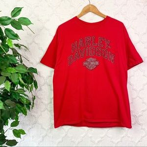 Harley-Davidson Red Logo Double-Sided Graphic Tee